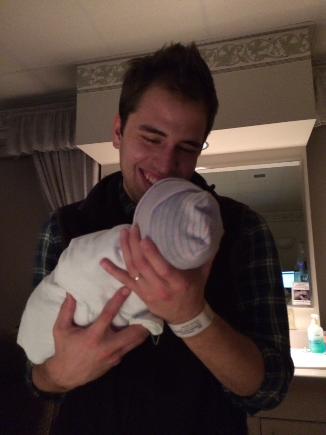 Proud new daddy!