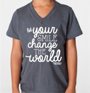 let your smile change the world shannon smiles tee
