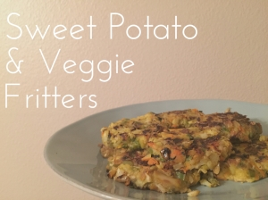 Dairy Free Gluten Free Grain Free Sweet Potato Cauliflower and veggie fritter