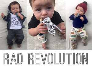 RadRevo Rad Revolution Taggie Teethers and Comfy Hoods