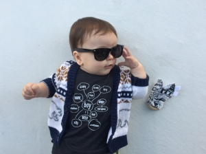 how cool does H look in his subsidy shades and hunt west boys thinking web tee?!